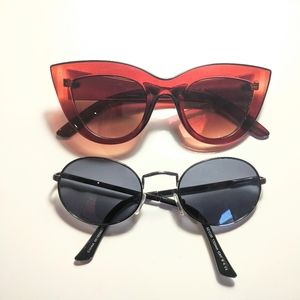 2 pairs of sunglasses at the price of one :)